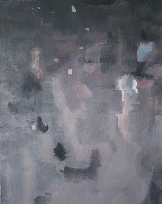 Wasserwerke - innen & außen III/2, 2021, Acryl auf Leinwand, 50 x 40 cm