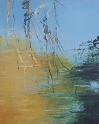 Wasserwerke - innen & außen V/1, 2021, Acryl auf Leinwand, 50 x 40 cm