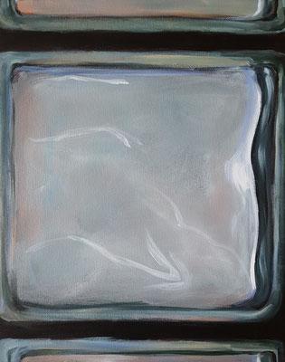 Wasserwerke - innen & außen IV/2, 2021, Acryl auf Leinwand, 50 x 40 cm