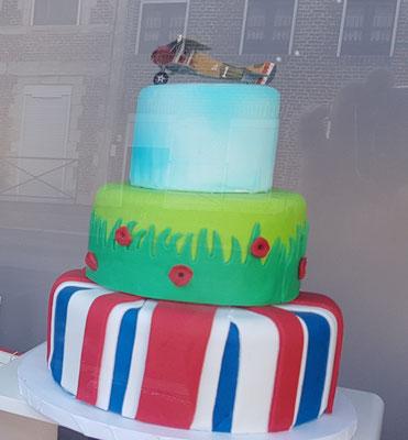 Event Cake réalisé pour notre vitrine sur le thème du centenaire de la bataille de Cambrai