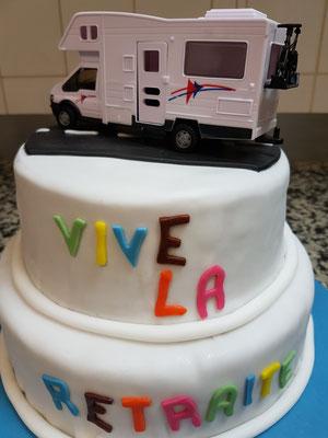 Event Cake réalisé pour un départ en retraite