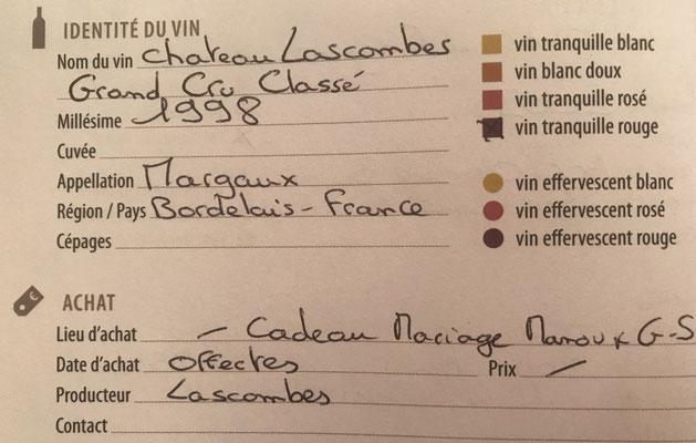 Livre de cave - Identité du vin