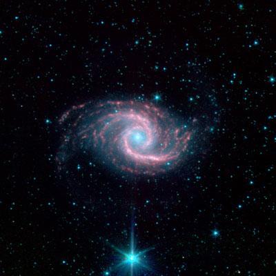 NGC1566 par le télescope spatial Spitzer