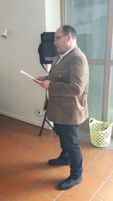 Herr Martin Wendl zum Thema Erweiterung der Firma Scherm in Probfeld