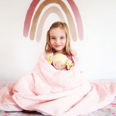 Kids sleep relax more easily and sleep more deeply with their weighted blanket.