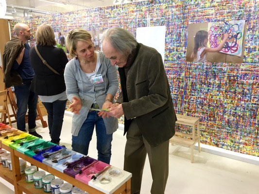 Arno Stern auf den Münchner Bildungstagen