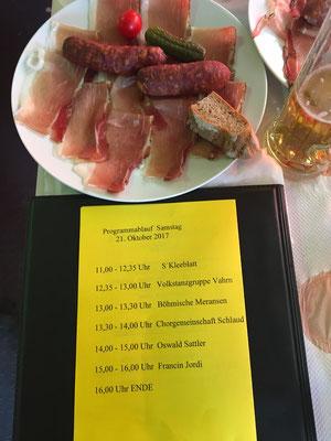 Programm der Veranstaltung - Bildausschnitt oben: Südtiroler Marende