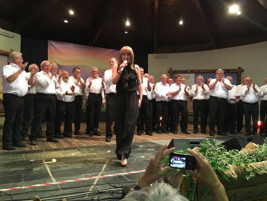 Francine Jordi - Gruppenbild mit den feschen Sängern aus Deutschland