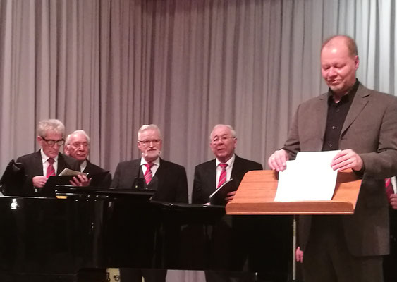MGV Sänger - 2. Tenor, mit Chorleiter Hans- Joachim Schlaud