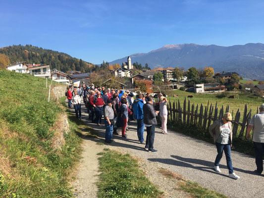 Wanderung zum Glangerhof auf 1000 Meter Höhe