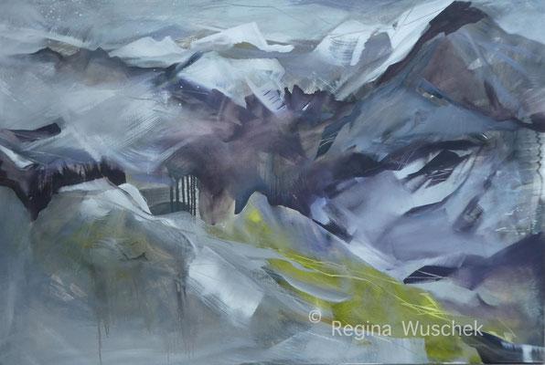 """""""Frühlingserwachen"""", 80x100, Öl auf Leinwand, Regina Wuschek"""