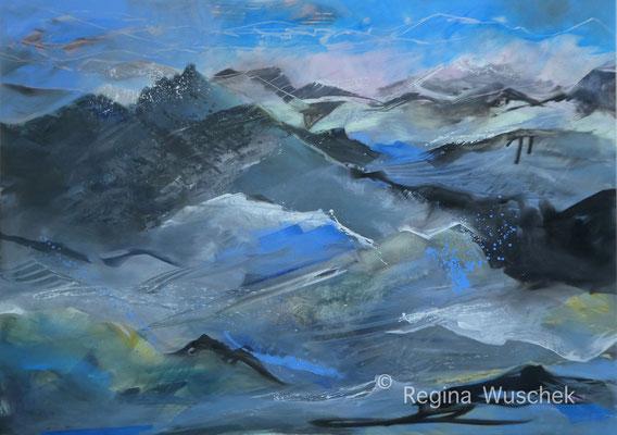 """""""Firn"""", 100x140, Öl auf Leinwand, Regina Wuschek"""