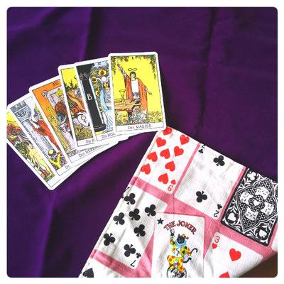 カードクロス敷布★紫×トランプ