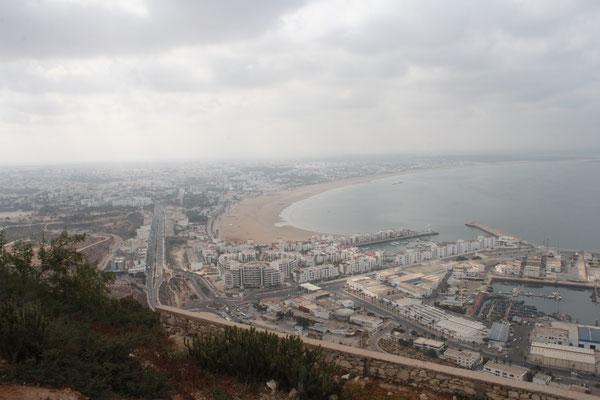 Blick auf Agadir von der Kasbah ff.