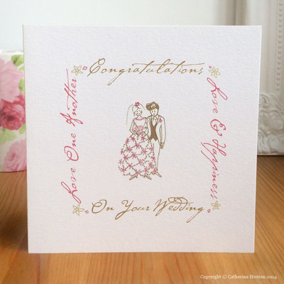 30. Wedding from the Life Cards range with gem