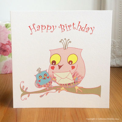 10. Owl Envelope Birthday from the Story Book range