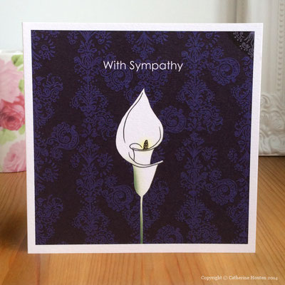 37. Sympathy purple from the Life Cards range
