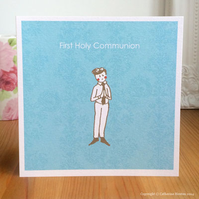 34. First Holy Communion Boy from the Life Cards range
