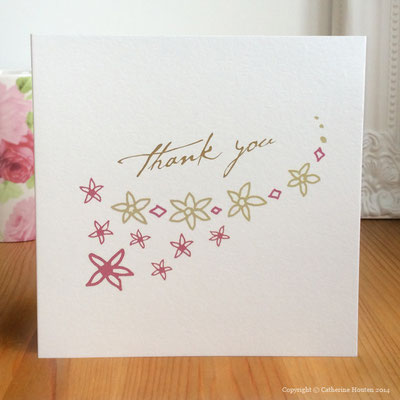 40. Thank you card from the Life Cards range