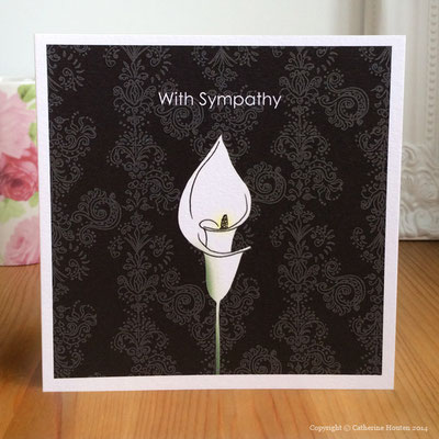 36. Sympathy black from the Life Cards range