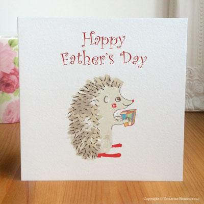 32. Hedgehog Present Father's Day from the Story Book range