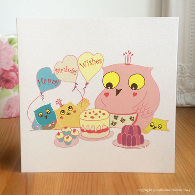 9. Owl Family Birthday from the Story Book range