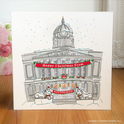 71. Nottingham Council House Christmas card