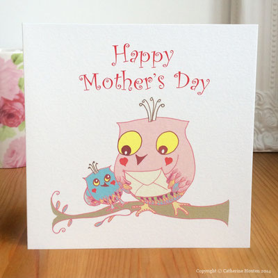 31. Owl Envelope Mother's Day from the Story Book range