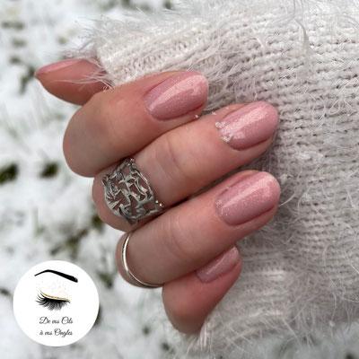 preparation des ongles et pose de vernis semi permanent gel rose baby boomer de vos cils a vos ongles lannemezan institut de beaute