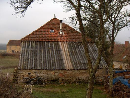 overdekt terras (aanbouw of houthok) voor