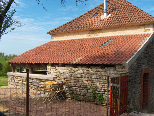 overdekt terras (houthok of aanbouw) na