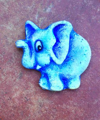 Elefantino decorativo cm. 13x10 circa