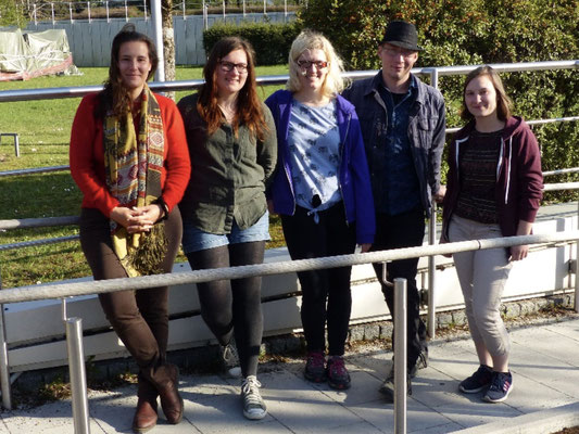 Von links nach rechts: Franziska Wagner, Stephanie Propp, Josephin Römer, Peter Stimmler, Viktoria Lissek © Franziska Wagner