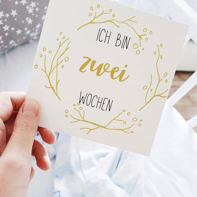 Baby Meilensteinkarte 2 Wochen