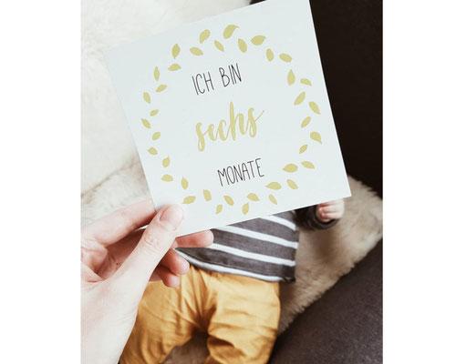 Baby Meilensteinkarte 6 Monate