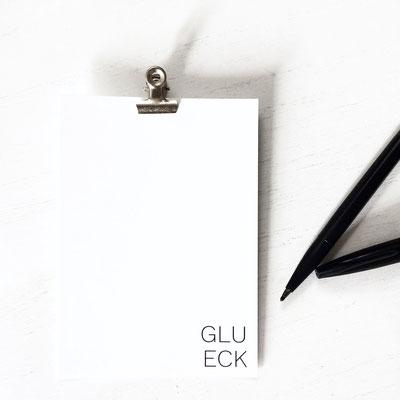 Typo Print GLÜCK