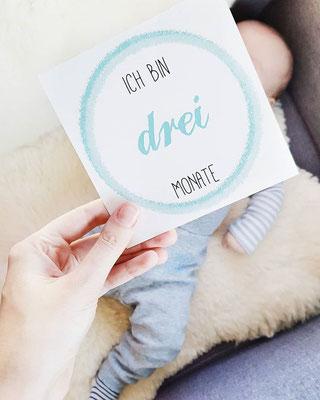 Baby Meilensteinkarte 3 Monate