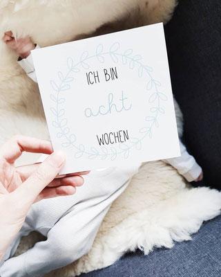 Baby Meilensteinkarte 8 Wochen