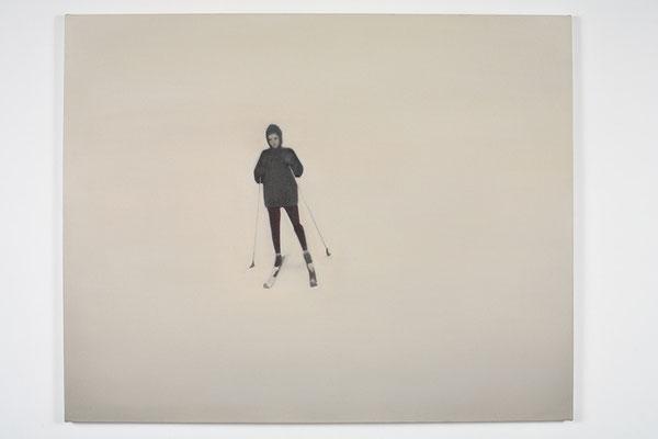 'Schifahrer' 80x100cm oil on canvas, 2009