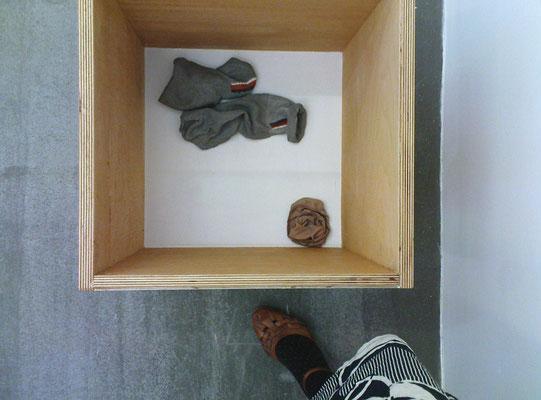 an upside-down plinth is a laundry basket, 2009