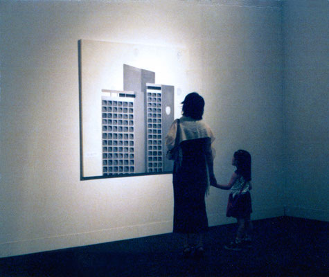 'Intercontinental' 150x150cm, oil on canvas, 2003 at The Museum of Modern Art, Saitama