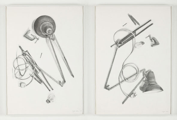 """Autopsy I and II"" 70x50cm x2 graphite on paper, 2009"