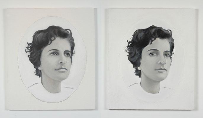 'Follower I, II' 70x60cm x2 oil on canvas, 2006-2009