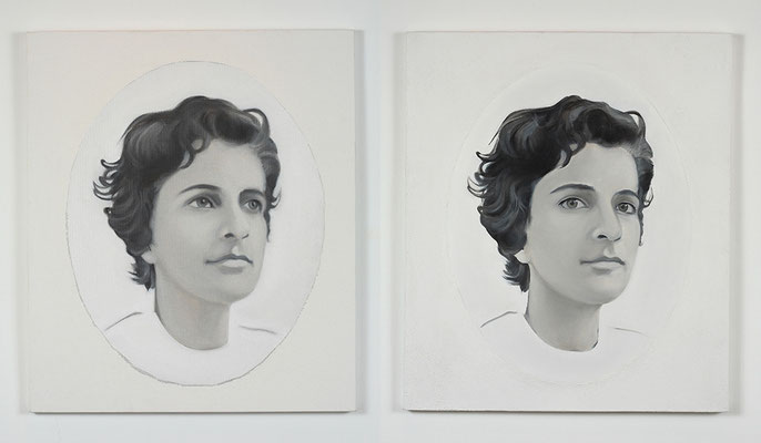 'Follower I, II' 70x60cm x2 oil on canvas, 2006-2009