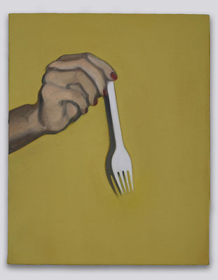 'Plastic Fork' 50x40cm oil on canvas, 2008