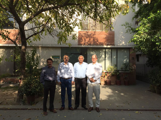 Management Team of Expandeers Pakistan, in front of new office