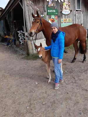 Calea vom Sagenhof am Tag ihrer Geburt, 04.03.2021