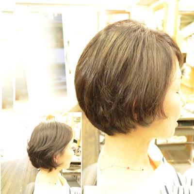 くせ毛を活かした髪型ショートボブ