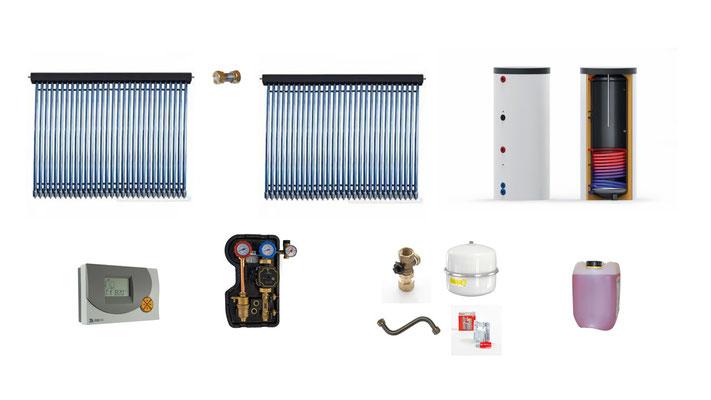 Solaranlage Warmwasser