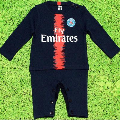 パリ・サンジェルマンのベビー服、カバーオール、長そで2018/2019